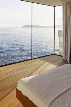 bedroom with amazing view