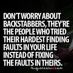 quotes about people who stab you in the back | Backstabbing Haters quote