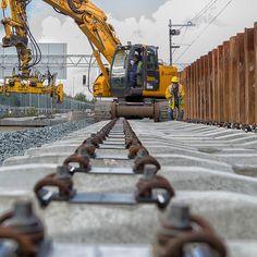 Building tracks near Amsterdam