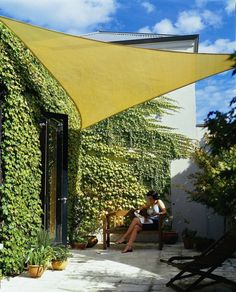 Coolaroo Coolhaven Shade Sails with Installation Hardware Kit. Use the sun shade sail to shade your deck, pool, patio or spa. This sun shade sail is made of commercial-grade breathable Coolaroo knitted fabric that keeps you cool and comfortable and w Backyard Shade, Backyard Canopy, Patio Shade, Garden Canopy, Diy Canopy, Shade Canopy, Ikea Canopy, Window Canopy, Backyards