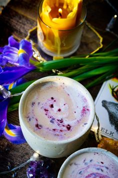 Lavender Blueberry Moon Milk (vegan, paleo, keto, & body ecology) is the ideal remedy for a full moon, new moon, or just a pick up for me for any rainy day. Quick and easy, magical tonic.