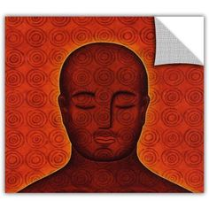 Gloria Rothrock Mind Circles Removable Wall Art Graphic, Size: 24 x 24, Red