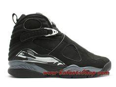 e3895283b49e7a Air Jordan VIII (8) Retro 2003 Chrome Chaussures Jordan Basket Pas Cher  Pour Homme Noir 305381-001