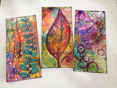 Diane's Mixed Media Art - mail art made from junk mail. She thinks of everything!!