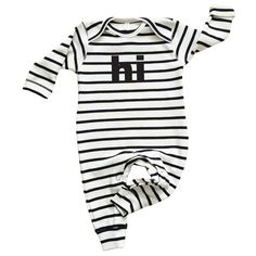 Breton Stripe HI Playsuit via Organic, Sustainable Baby and Kids Clothes | Organic Zoo. Click on the image to see more!