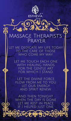 Massage Therapists' Prayer The Springs Resort & Spa Pagosa Springs, CO 970-264-7770