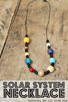 Solar System Necklace - Space and Planet Craft - a fun summer craft MichaelsMakers Lil Blue Boo