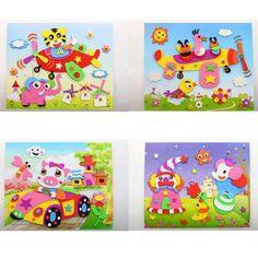 "New DIY Handmade 3D EVA Foam Sticker Cartoon Animal 8.27""*10.24""Puzzle Baby Leaning Educational Toys"