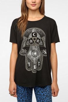 Urban Outfitters - Truly Madly Deeply Palm Of Darkness Tee