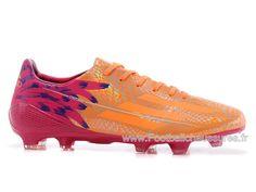 Adidas Homme Soccer adizero F50 TRX FG - Officiel adidas FOot Adidas adizero F50  Orange/ Electricity / Metallic Silver (D67209)