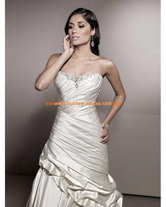 2013 Elegante Brautkleider aus Satin A-Linie mit Kristall online