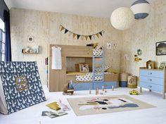 Mobiliario infantil de estilo nórdico.