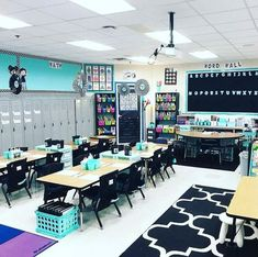 Gorgeous classroom design ideas for back to school 51 Classroom Layout, First Grade Classroom, Classroom Setting, Future Classroom, School Classroom, Classroom Organization, Binder Organization, Classroom Color Scheme, Elementary Classroom Themes