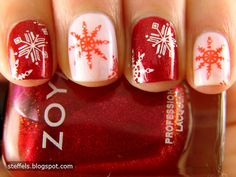 Christmas/Winter nail art