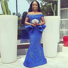 Beautiful Wedding Guest Aso Ebi Styles - DeZango Fashion Zone from Diyanu - Ankara Dresses, Shirts & African Lace Styles, African Lace Dresses, African Fashion Dresses, African Attire, African Wear, African Women, Ghanaian Fashion, Ankara Styles, Ankara Fashion