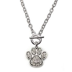 7 Carat Paw Print Toggle Necklace