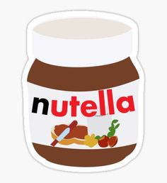 Nutella stickers featuring millions of original designs created by independent artists. Stickers Cool, Preppy Stickers, Red Bubble Stickers, Food Stickers, Tumblr Stickers, Phone Stickers, Printable Stickers, Planner Stickers, Kunst Online