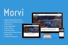 Buy Morvi - Responsive Portfolio by dewitech on ThemeForest. Morvi is a bootstrap corporate theme, which have 3 different homepage style ready to use, and also 3 portfolio style. Web Themes, Website Themes, Color Themes, Business Brochure, Business Card Logo, Latest Fonts, Responsive Template, Google Fonts, Photoshop