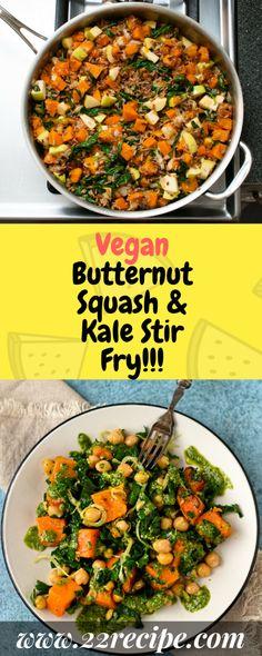 Vegan Butternut Squash & Kale Stir Fry!!! - 22 Recipe