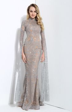 Queen Of The Night Silver Glitter Fishtail Maxi Dress – Fashion Genie Boutique USA Evening Dresses With Sleeves, Evening Gowns, Muslimah Wedding Dress, Bridal Dresses, Prom Dresses, Hijab Dress Party, Fishtail Maxi Dress, Kebaya Dress, Gown Skirt