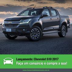 A Chevrolet revelou nesta semana a nova S10, que chega com novo visual e muitas mudanças, fazendo da picape a mais tecnológica do segmento!  Vem ver: https://www.consorciodeautomoveis.com.br/noticias/lancamento-chevrolet-s10-chega-a-linha-2017?idcampanha=206&utm_source=Pinterest&utm_medium=Perfil&utm_campaign=redessociais