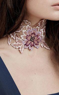 Lace Floral Choker by Jessica Choay | Moda Operandi