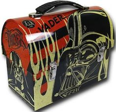 Eat you lunch out of this cool Star wars Darth Vader domed lunch tin that features a picture of the powerful Darth Vader surrounded in flames. Lunch Box Thermos, Lunch Boxes, Star Wars Lunch Box, Boxer Rebellion, Star Wars Merchandise, Darth Vader, Metal Lunch Box, Star Wars Gifts, The Force Is Strong