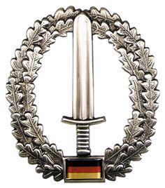 Bundeswehr Barretabzeichen, KSK, Metall