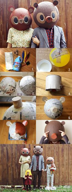 make your own bear heads... because, why not? why wouldn't a bear head of your very own!