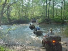 Backwoods four wheeling water outdoors nature fun country
