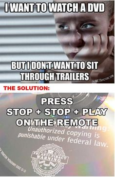 Want To Watch A DVD Movie But Don't Want To Watch The Trailers Or Ads?