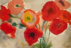Emil Nolde Poppies - art lesson for kids