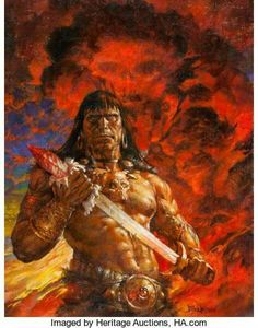 Doug Beekman, Conan. There seems to be a skull face in the smoke.
