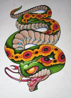 by artisticrender on DeviantArt, Practice Snake by artisticrender on DeviantArt, Practice Snake by artisticrender on DeviantArt, Sweet Key to my heart tattoo by Lynn Akura at Magnum Opus Tattoo, Brighton 20 Brilliant Crown Tattoos You'll Need to See Traditional Snake Tattoo, Traditional Tattoo Design, Escorpion Tattoo, Lion Tattoo, Tattoo Sketches, Tattoo Drawings, Japanese Snake Tattoo, Japanese Tattoos, Skull Tattoo Flowers