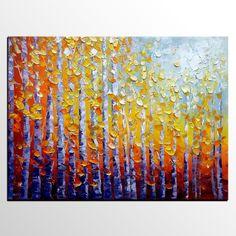 Autumn Landscape Art, Wall Art, Original Art, Canvas Wall Art, Living Room Wall Art, Large Oil Painting, Abstract Painting, Original Painting