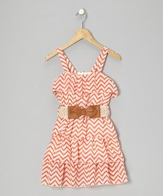 {Coral Zigzag Dress - Girls by Just Kids}