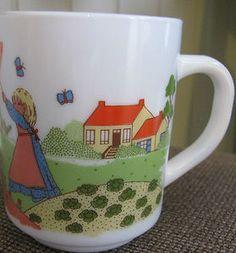MADE IN FRANCE - ARCOPAL Garden Butterflies Girls Small White Tea Cup Coffee Mug