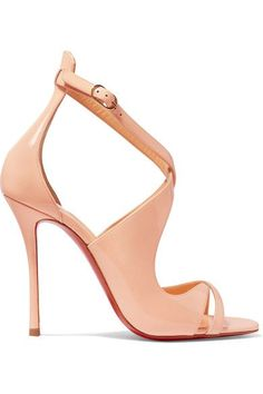 Christian Louboutin - Malefissima Patent-leather Sandals - Pastel pink - IT37.5
