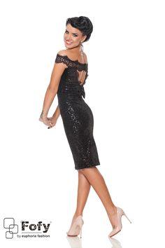 Fofy Galactic Angel Black Dress Sequin Dress, Peplum Dress, Bow Accessories, Evening Dresses, Formal Dresses, Product Label, Dress Cuts, Lace Detail, Sequins