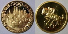 World Coins - German gold proof medallion - 1972 Olympics - proof finish