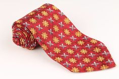 Robert Talbott Best of Class Red Floral mens Tie
