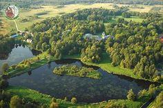 Białowieski Park Narodowy z lotu ptaka.