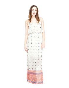 Bershka Ελλάδα - Φόρεμα μακρύ BSK με στάμπες φτερά