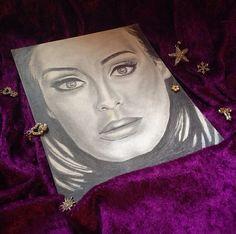 Adele Famous Girl Art Drawing Drawer Love Artistiq Glow