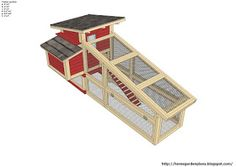 home garden plans: S100 - Chicken Coop Plans Construction - Chicken Coop Design - How To Build A Chicken Coop