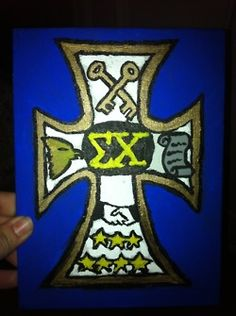 Sigma Chi Norman Shield I painted