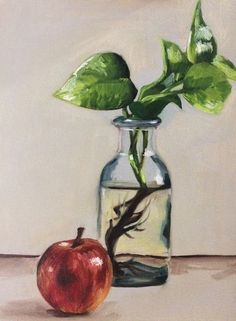 Still Life Oil Painting by Erika Lancaster #oilpainting #painting #art