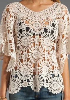 Chrochet tunic. Would be super cute with a soft pink or teal cami underneath