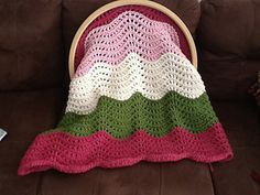Really beautiful flower afghan created on the Cindwood loom with 1/2 inch gauge paid pattern $4