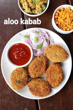 aloo ke kabab recipe, alu kabab recipe, potato kebab, aloo k kebab with step by step photo/video. fried snack recipe with spiced & mashed potato & spices. Pakora Recipes, Cutlets Recipes, Kebab Recipes, Chaat Recipe, Veg Recipes, Spicy Recipes, Curry Recipes, Cooking Recipes, Snacks Recipes